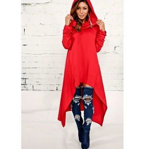 Dresses & Skirts - New-High/Low Hooded Dress